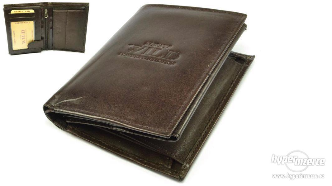 Hnědá peněženka kožená pánská