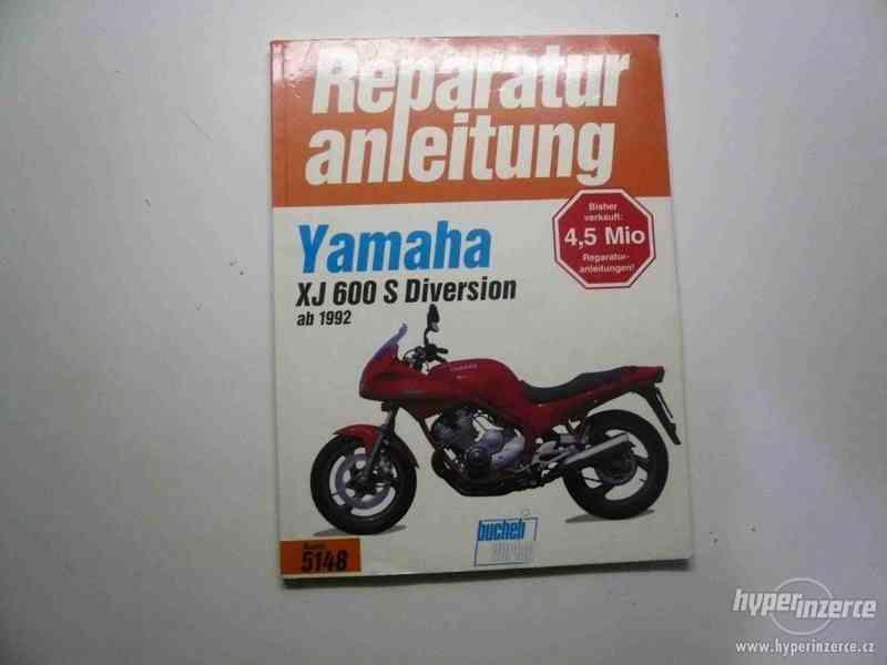 Prodám dílenské příručky na motocykly Yamaha a Honda