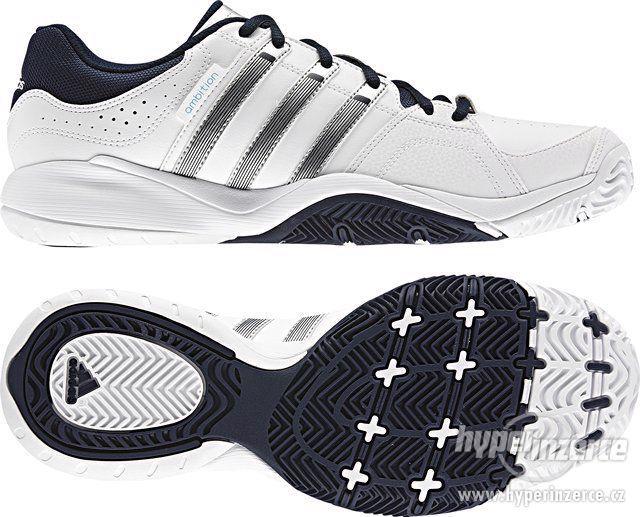 Adidas tenisové boty Ambition VII Stripes vel.UK 11,5