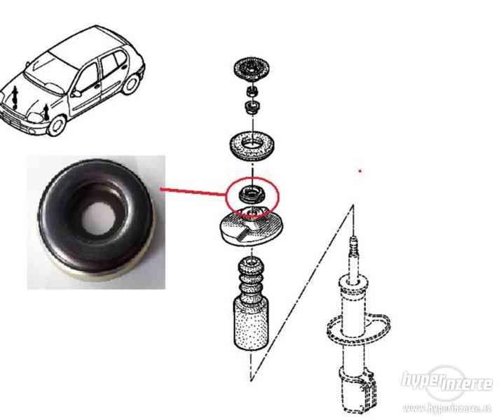 Ložisko uložení předního tlumiče Renault Clio Kangoo Twingo - foto 3