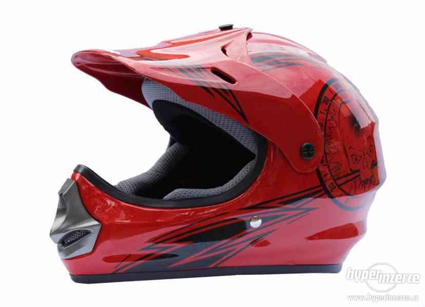 Dětská moto přilba krosová JST  moto helma posíláme