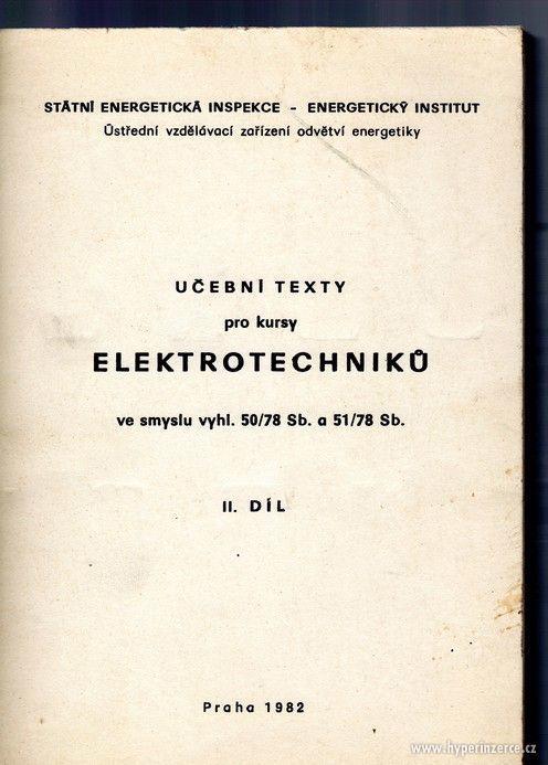 Učební texty pro kursy eletrotechniků