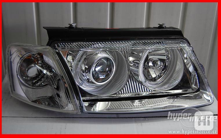 VW Passat B5 přední Angel Eyes světla-Chrom.