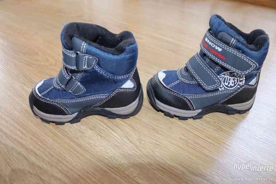 Zimní boty vel.21 - foto 2