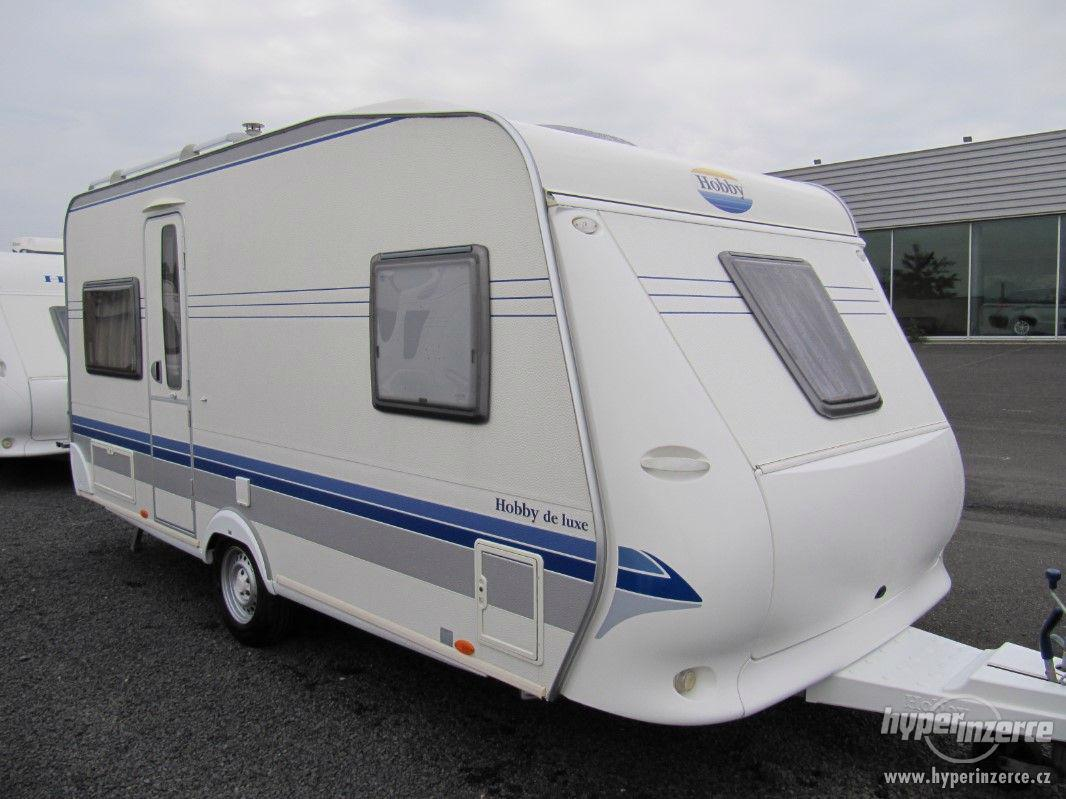 Prodám karavan Hobby 460 ufe,model 2008 + klima + před stan. - foto 1