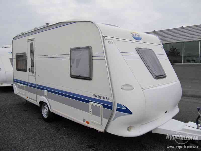 Prodám karavan Hobby 460 ufe,model 2008 + klima + před stan.