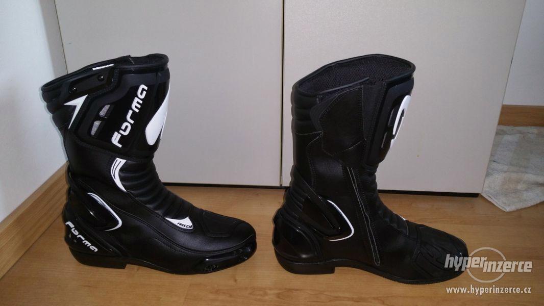 Motorkářská bunda, boty VŠE NOVÉ - foto 7