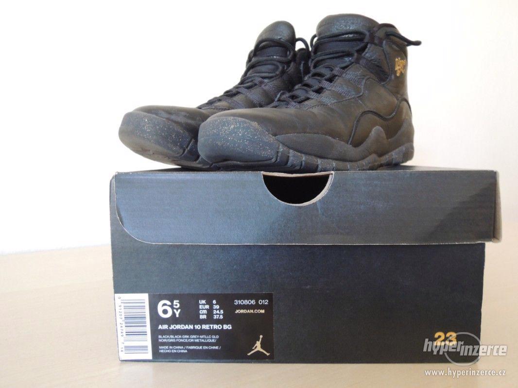 Basketbalové boty Air Jordan 10 Retro BG - foto 1