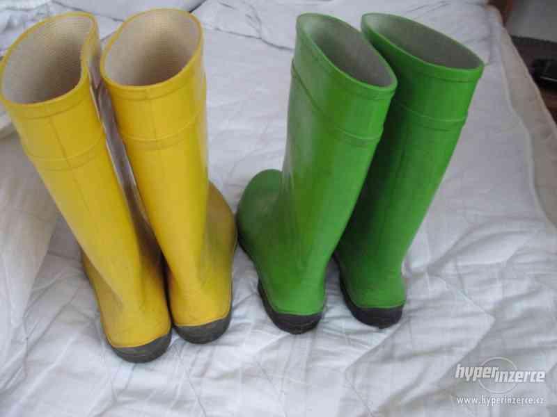 HOLÍNKY – 2 páry, vel. 37 (žluté) + vel. 38 (zelené) - foto 2
