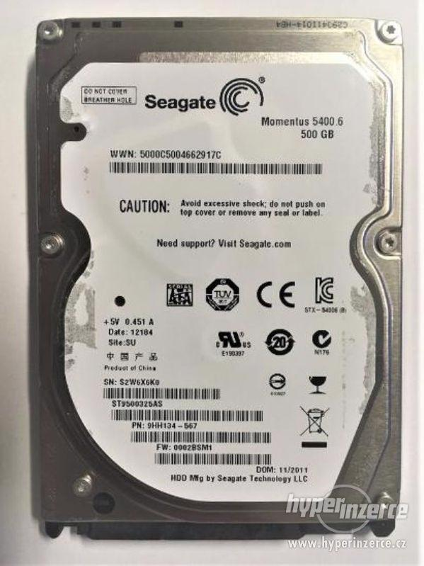 """HDD do NB SEAGATE Moment ST9500325AS 500GB 5400ot 2,5"""" - foto 1"""