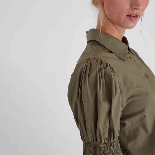 ICHI - Dámská olivová košile Grenna Velikost: 40 - foto 4