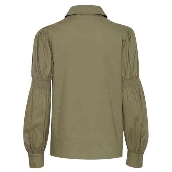 ICHI - Dámská olivová košile Grenna Velikost: 40 - foto 8