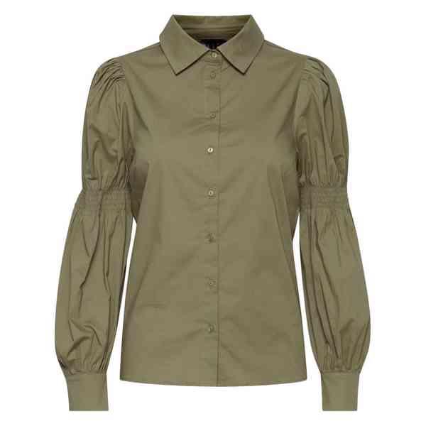 ICHI - Dámská olivová košile Grenna Velikost: 40 - foto 7