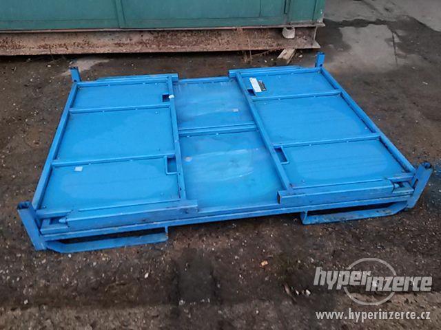 Kovové skladovací / přepravní skládací boxy STRUMET