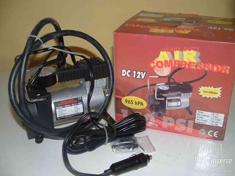 Prodám pneu kompresor 12V / 965 kPA + 2ks opravné sady