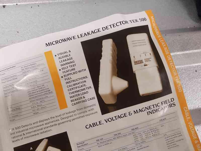 Microwave leakage detector INTEC - TEC 500 - foto 5