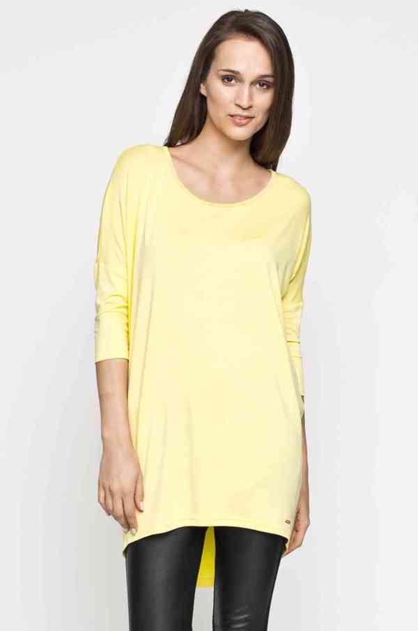 Vanilkově žlutá tunika / šaty Answear
