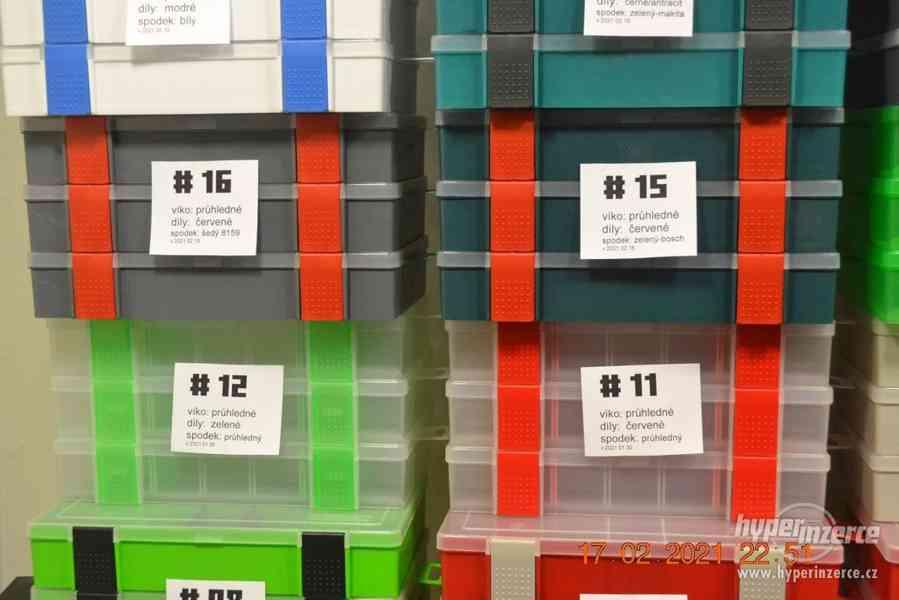 Plastová krabička - organizér 250 x 160 x 45 mm - pro kutily - foto 8