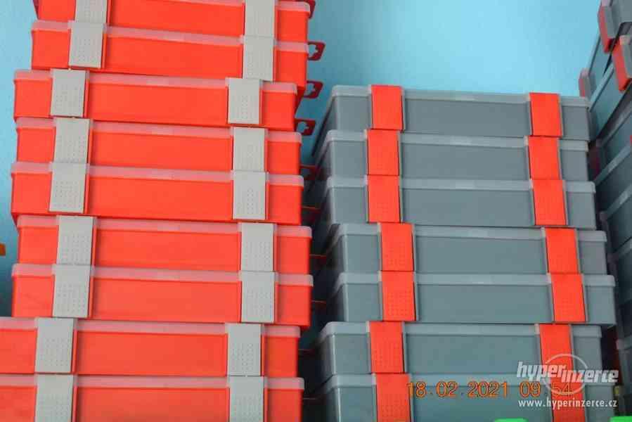 Plastová krabička - organizér 250 x 160 x 45 mm - pro kutily - foto 17