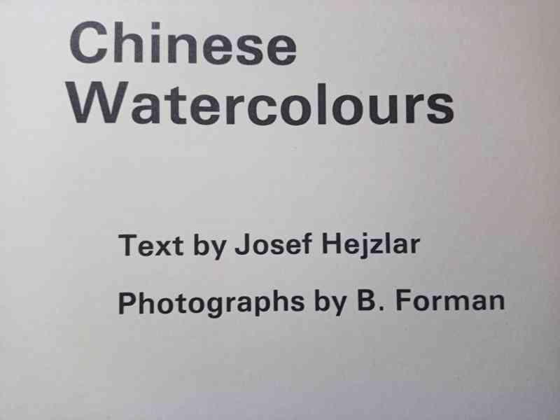 Kniha Chinese watercolours - 1980 - Josef Hejzlar - foto 3