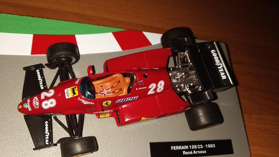 Ferrari 126 C3 #27 René Arnoux (1983) IXO Altaya 1:43