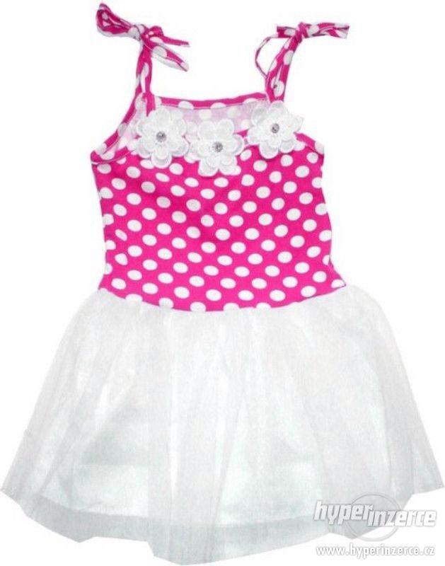 Dívčí společenské šaty letní - foto 1