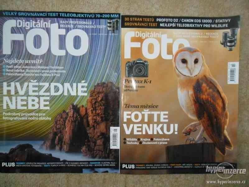 Prodám starší  časopisy Digitální foto aj.