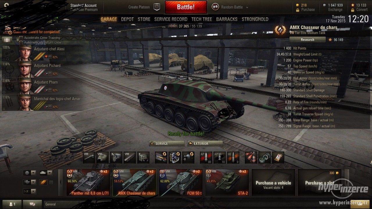 World of Tanks účet - foto 1