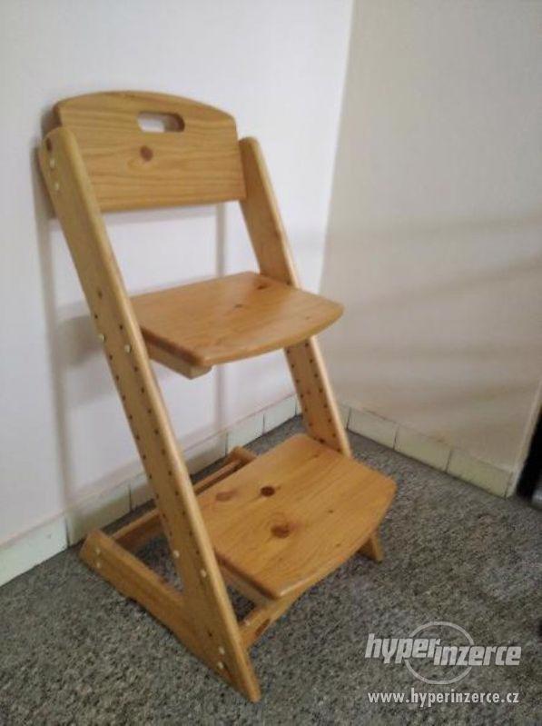Dětská rostoucí židle z masivu