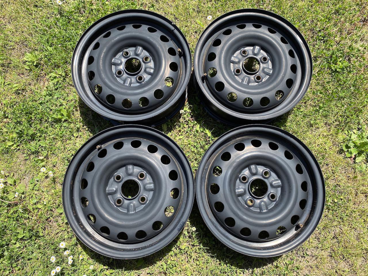 14 4x100 R14 plechové ocelové disky  - foto 1