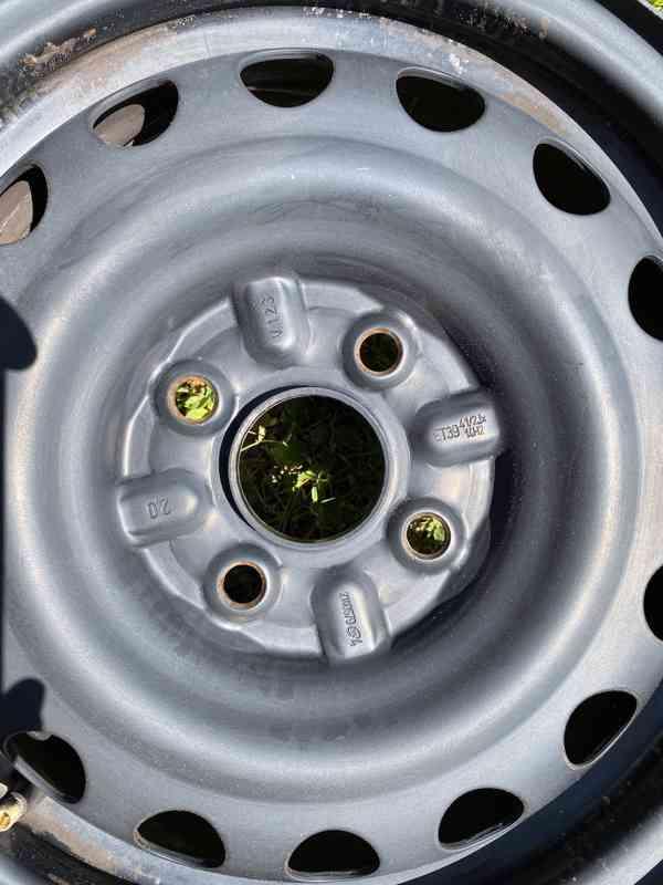 14 4x100 R14 plechové ocelové disky  - foto 2