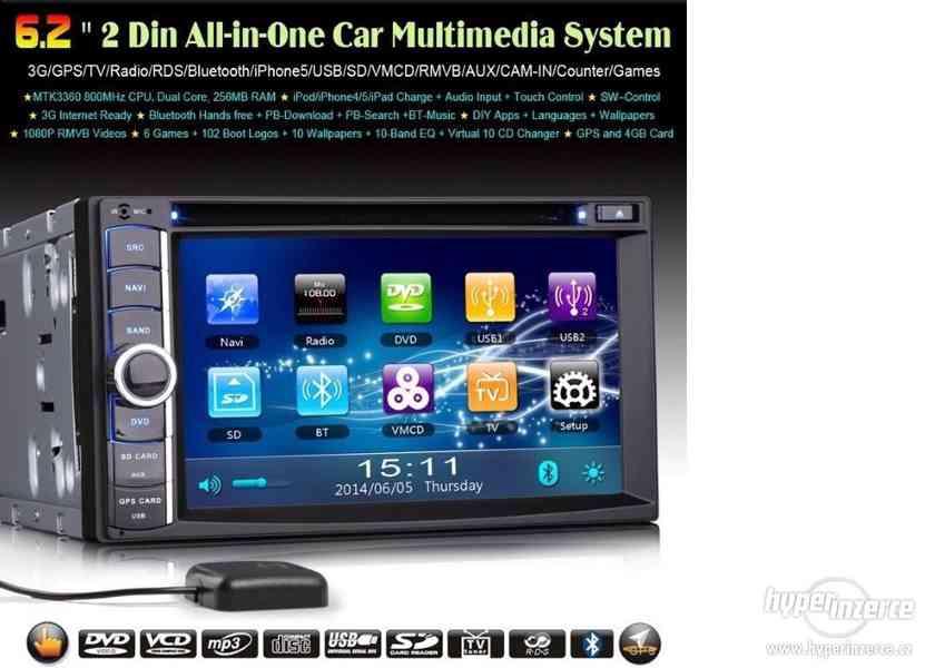 2DIN Dotykove Autoradio Navi GPS DVD BT USB SD