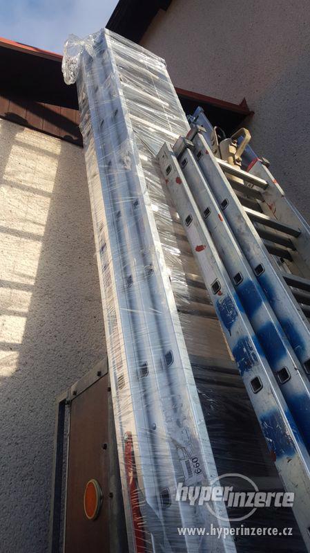 Výsuvný hliníkový žebřík PROFI, 3 x 15 příček - foto 2
