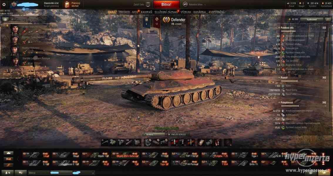 prodám World of Tanks účet