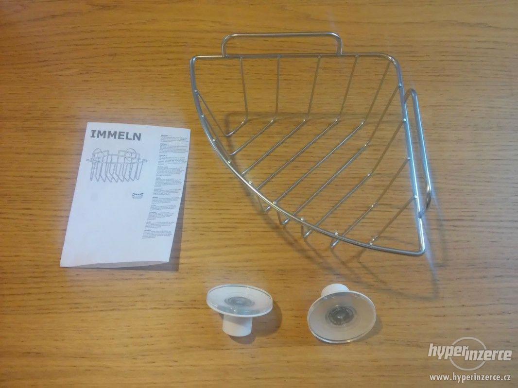 Závěsná rohová police IKEA (řada IMMELN) - nepoužité! - foto 1