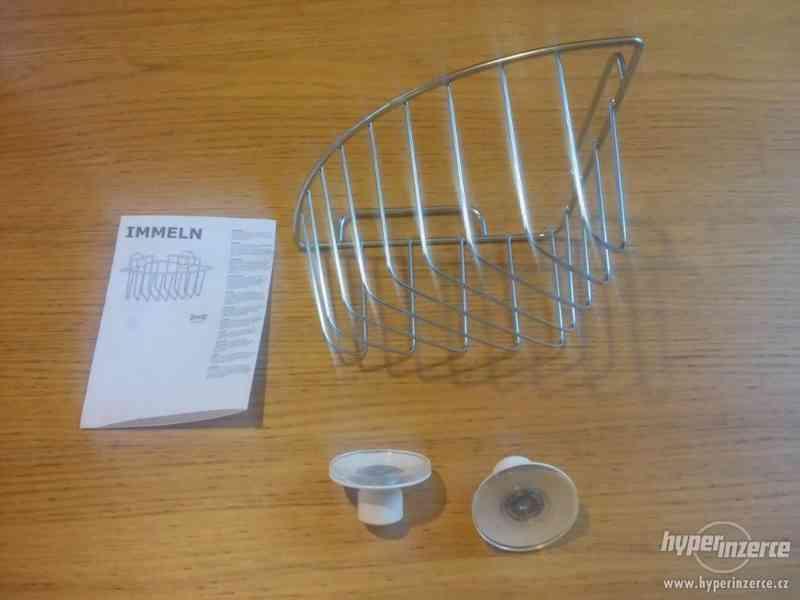 Závěsná rohová police IKEA (řada IMMELN) - nepoužité! - foto 2