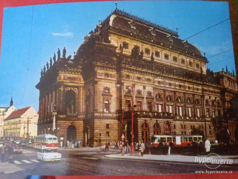 Retro pohlednice Národní divadlo v Praze