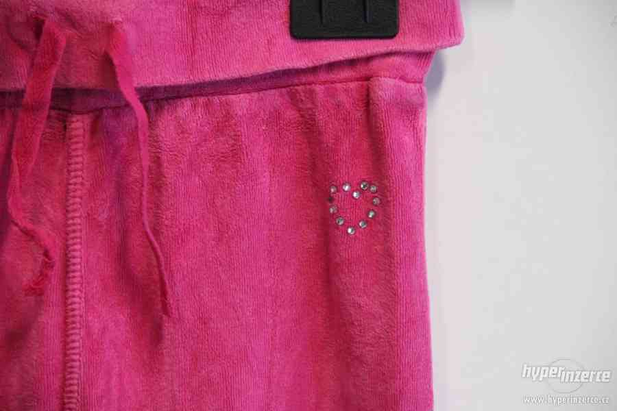 Dětské tepláky - černé a růžové - foto 5