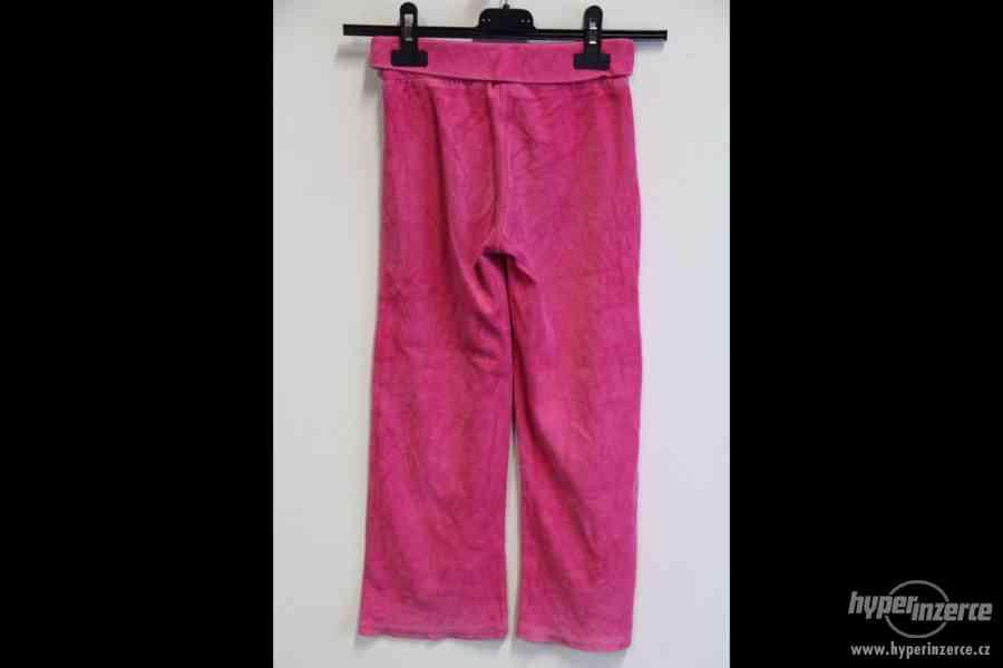 Dětské tepláky - černé a růžové - foto 7
