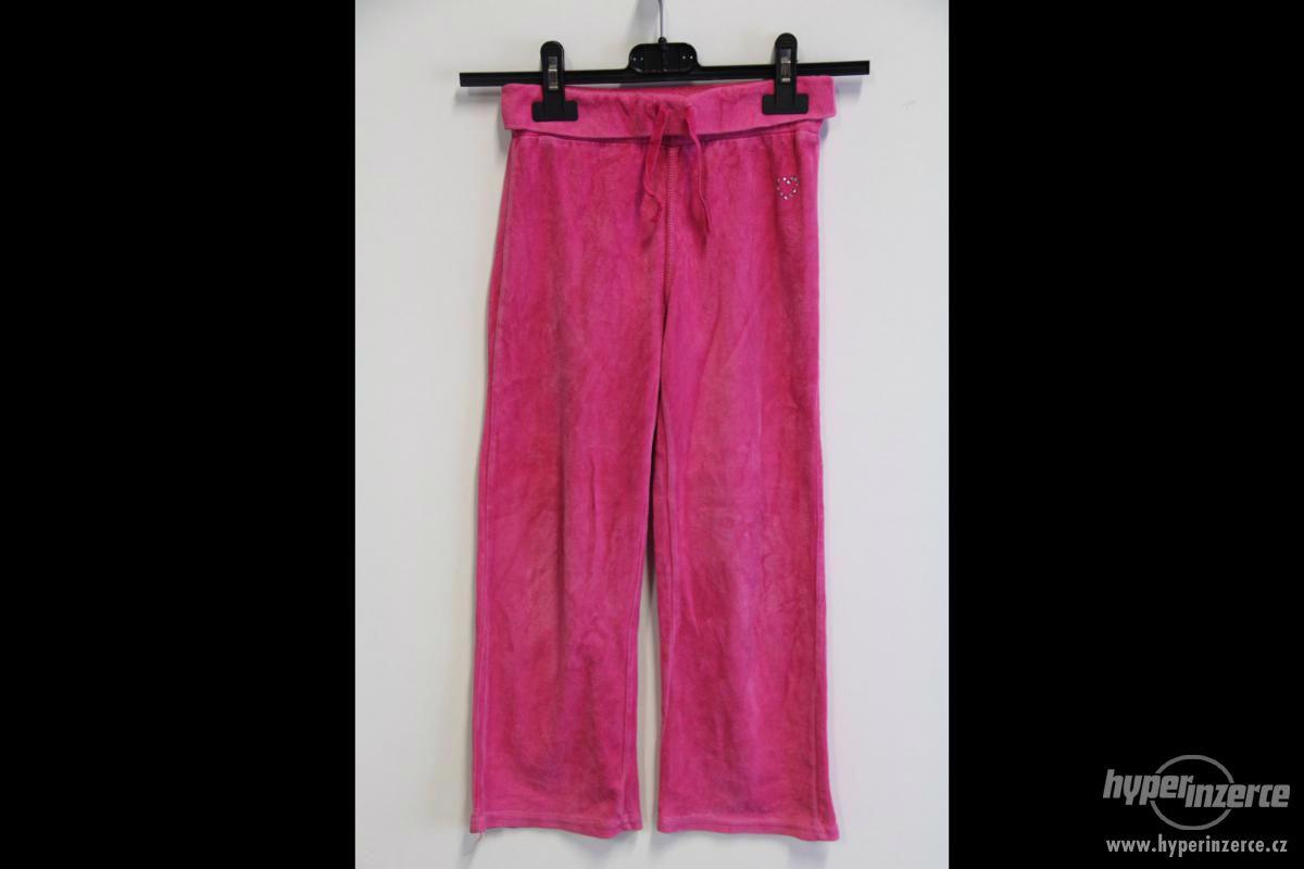 Dětské tepláky - černé a růžové - foto 1