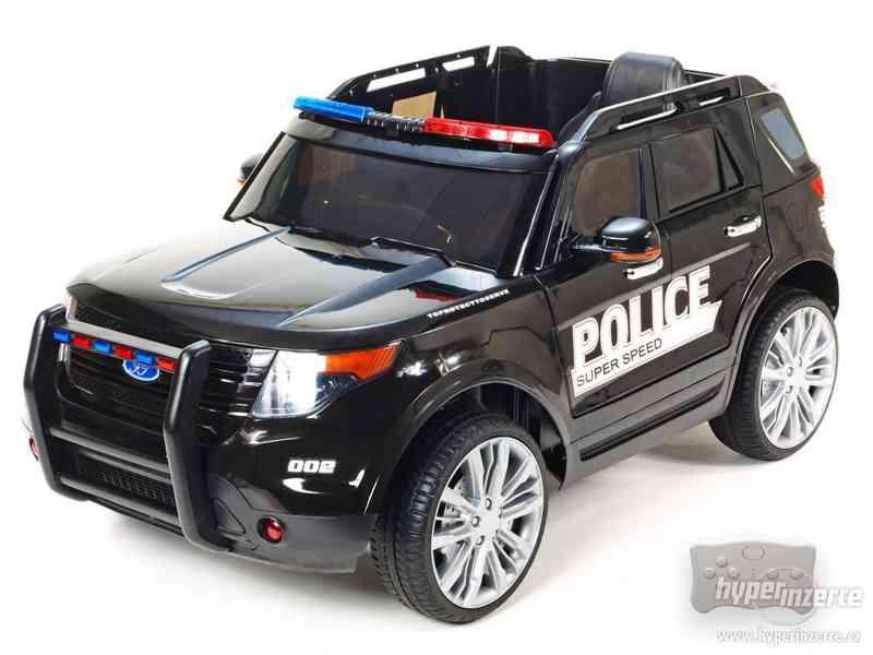 Dětské elektrické auto Policie Černé