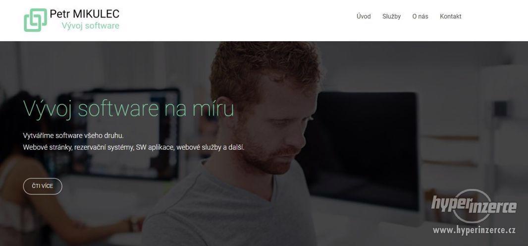 Webové stránky, aplikace a eshopy na míru