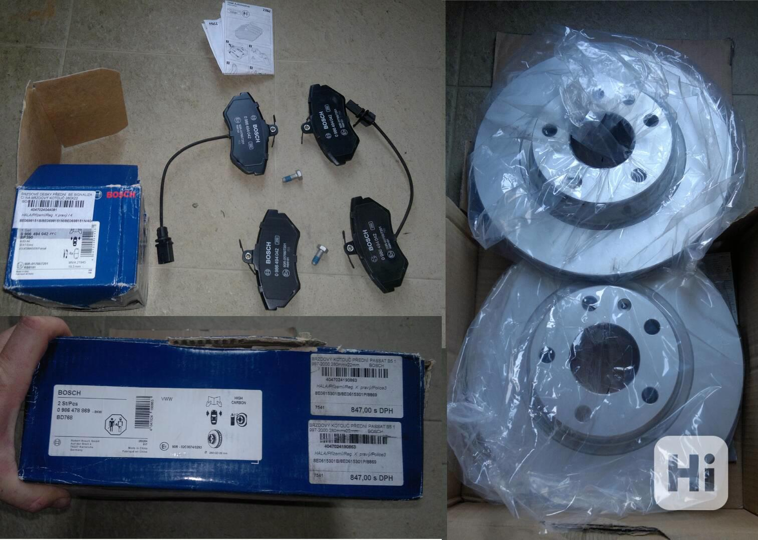 Přední brzdové kotouče a destičky Passat b5 - foto 1