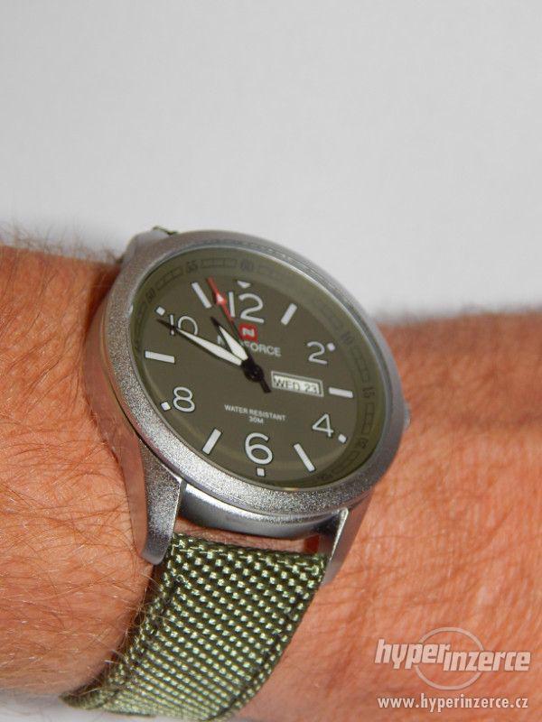 Military pánské ocelové hodinky Naviforce 30 m vodotěsné, pá