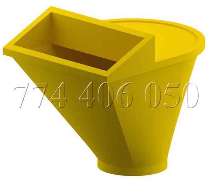 Prodám stavební shozy kompletní systém -držák, násypka, shoz - foto 1