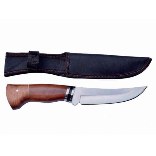 Lovecký nůž rosewood Black stripe s nylonovým pouzdrem - foto 2