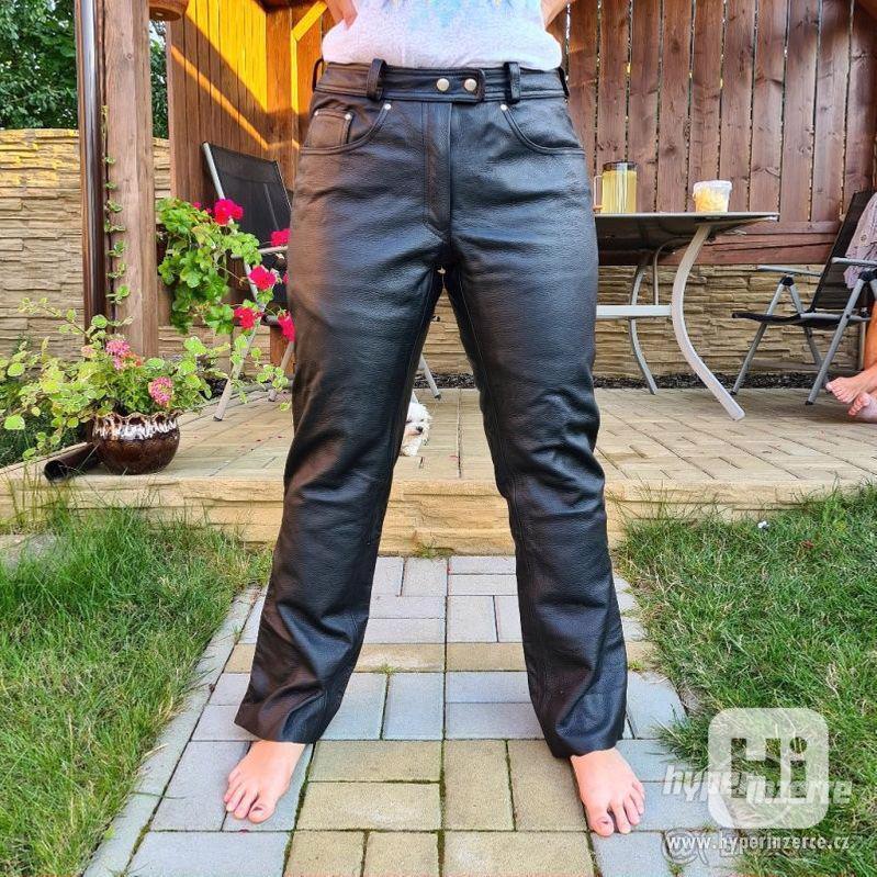 Motorkářské kožené kalhoty - foto 1