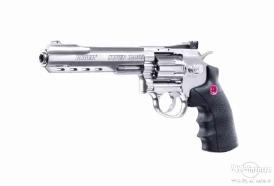 "Airsoft Revolver Ruger SuperHawk 8"" nikl AGCO2"