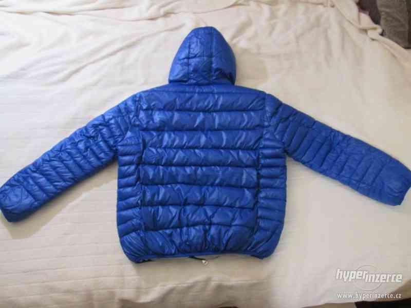 ZIMNÍ KABÁT - bunda s kapucí, vel. 164 (modrá) - foto 3