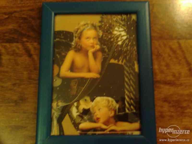 krásný obrázek Andělé štěstěny13x 18 cm s rámečkem - foto 2
